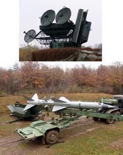 SA-2 Volhov si radar de urmarire