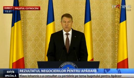 Iohannis buget Aparare