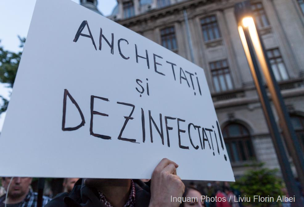 sanitar sistem protest dezinfectanti